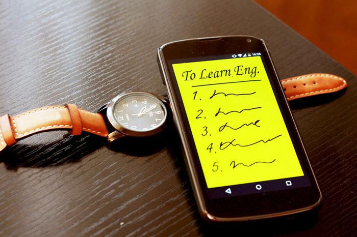 تطبيقات لتعلم اللغة الأنجليزية